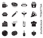 solid black vector icon set  ... | Shutterstock .eps vector #793697764