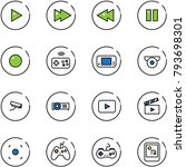 line vector icon set   play... | Shutterstock .eps vector #793698301