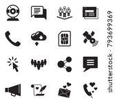 solid black vector icon set  ... | Shutterstock .eps vector #793699369