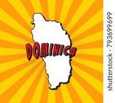 map of dominica in pop art... | Shutterstock .eps vector #793699699