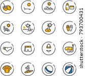 line vector icon set   coconut... | Shutterstock .eps vector #793700431