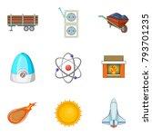 effort icons set. cartoon set... | Shutterstock .eps vector #793701235