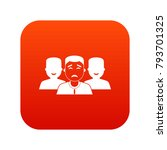 people group icon digital red... | Shutterstock .eps vector #793701325