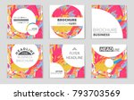 abstract vector layout... | Shutterstock .eps vector #793703569