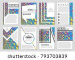 abstract vector layout... | Shutterstock .eps vector #793703839