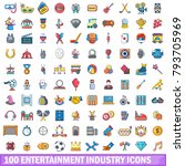 100 Entertaiment Industry Icon...