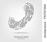abstract technology circuit...   Shutterstock .eps vector #793707304
