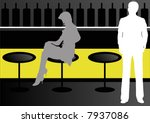 male and female in wine bar | Shutterstock . vector #7937086