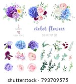 violet  purple and blue... | Shutterstock .eps vector #793709575