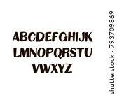 hand written uppercase english... | Shutterstock .eps vector #793709869