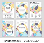 abstract vector layout... | Shutterstock .eps vector #793710664
