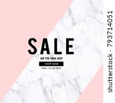 sale banner template design... | Shutterstock .eps vector #793714051