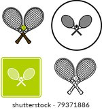 tennis rackets and ball | Shutterstock .eps vector #79371886
