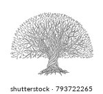 big tree with roots for your... | Shutterstock .eps vector #793722265