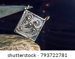 the work of jewelers. trial... | Shutterstock . vector #793722781