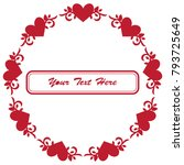 frame for valentine's day.... | Shutterstock .eps vector #793725649