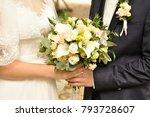 bride  holding a wedding... | Shutterstock . vector #793728607