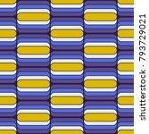 seamless retro pattern | Shutterstock .eps vector #793729021