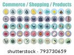 shopping e commerce shopping... | Shutterstock .eps vector #793730659