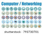 computer networking icons | Shutterstock .eps vector #793730701