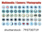 multimedia  camera and... | Shutterstock .eps vector #793730719