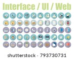 pack of user interface icons... | Shutterstock .eps vector #793730731