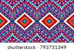 ethnic geometric pattern .... | Shutterstock .eps vector #793731349