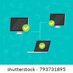 network connection between... | Shutterstock .eps vector #793731895