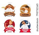 logo or labels set for... | Shutterstock .eps vector #793732165