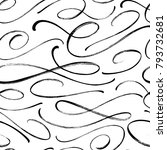 swash vector seamless pattern.... | Shutterstock .eps vector #793732681