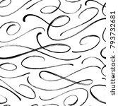 swash vector seamless pattern.... | Shutterstock .eps vector #793732681