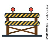 icon of construction fence.... | Shutterstock .eps vector #793733119