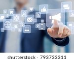 digital marketing concept with... | Shutterstock . vector #793733311