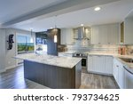 well appointed kitchen features ... | Shutterstock . vector #793734625