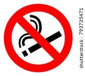 no smoking  sign. forbidden... | Shutterstock .eps vector #793735471