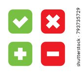 flat checkmark  cross and plus  ... | Shutterstock .eps vector #793735729