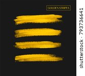 brush painted acrylic stripes... | Shutterstock .eps vector #793736641