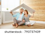 concept housing a young family. ... | Shutterstock . vector #793737439