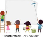illustration of stickman kids... | Shutterstock .eps vector #793739809