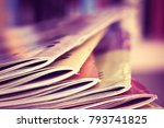 close up edge of colorful... | Shutterstock . vector #793741825