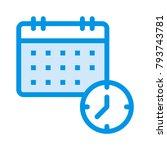 schedule calendar date  | Shutterstock .eps vector #793743781