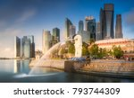 view of business district and... | Shutterstock . vector #793744309