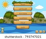 game design with ocean in... | Shutterstock .eps vector #793747021