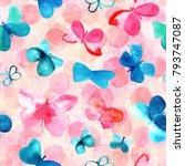 a seamless background pattern... | Shutterstock . vector #793747087