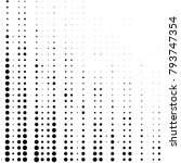 abstract grunge grid polka dot... | Shutterstock .eps vector #793747354