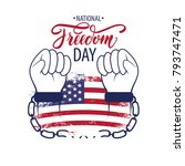 national freedom day. freedom... | Shutterstock .eps vector #793747471