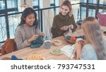 young women in workplace | Shutterstock . vector #793747531