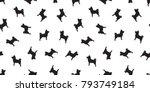 dog seamless pattern dog breed... | Shutterstock .eps vector #793749184