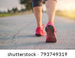 close up sneaker of athlete... | Shutterstock . vector #793749319