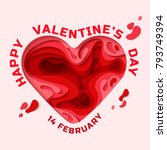 happy valentines day greeting... | Shutterstock .eps vector #793749394